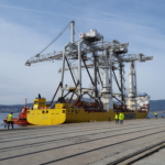 transport of two STS container cranes from Rotterdam to Vigo