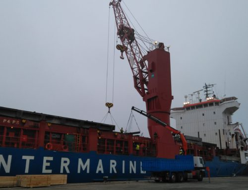 Temporary deck strengthening for INTERMARINE